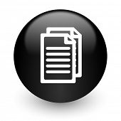 document black glossy internet icon