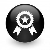 award black glossy internet icon