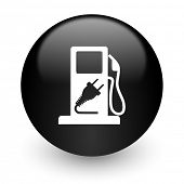 fuel black glossy internet icon