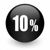 10 percent black glossy internet icon