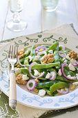 Green Bean, Walnut, and Feta Salad