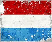 Grunge Luxembourg Flag With Stains