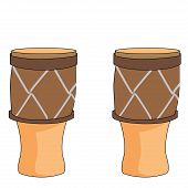 picture of bongo  - a pair of bongos in a white background - JPG