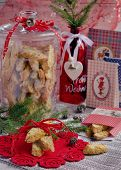 Christmas cookies with Santa Claus