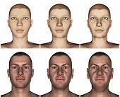Aging process - 3D render