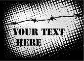 barb wire background
