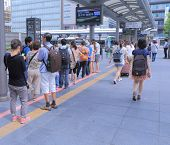 Kyoto station bus terminal Japan