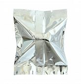 Foil Package Isolated On White Background With Clipping Path