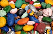 Large Pebbles Painted In Bright Colors