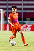 Sisaket Thailand-july 13: Siwapong Jarersin Of Sisaket Fc. In Action During Thai Premier League Betw