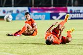 Sisaket Thailand-july 13: Ekkapan Jandakorn Of Sisaket Fc. In Action During Thai Premier League Betw