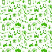 illustration of seamless pattern for Eid