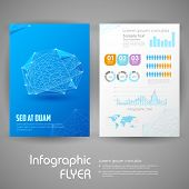 illustration of business infographic flyer for presentation