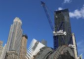 Construction of the World Trade Center Transportation Hub by Santiago Calatrava continues in NY