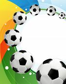 Rainbow Background And Soccer Balls
