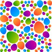 Abstract color pattern - eggs on a white background. Vector template.