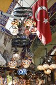 Exquisite Glass Lamps And Lanterns In The Grand Bazaar (kapali Carsi ) In Istanbul, Turkey.