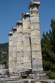 pic of ionic  - Ionic columns of the Temple of Athena Polias in ancient Priene Turkey - JPG