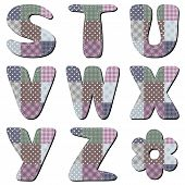 patchwork scrapbook alphabet