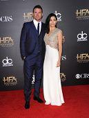 LOS ANGELES - NOV 14:  Channing Tatum & Jenna Dewan-Tatum arrives to the The Hollywood Film Awards 2014 on November 14, 2014 in Hollywood, CA
