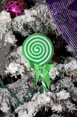 lollipop on christmas tree