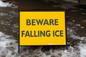 Danger Watch For Falling Ice And Snow Sign