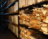 Paper Documents In Archive