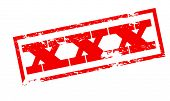stock photo of x-rated  - Rubber stamp with triple x inside - JPG