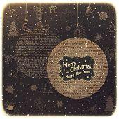 Vintage Merry Christmas Card Design