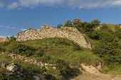 Old fortress wall in Melnik town