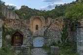 Ancient church ruin St. Barbarians in Melnik town