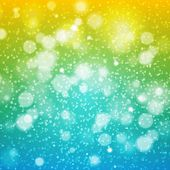 CHRISTMAS. Rainbow illustration. vector background yellow green blue