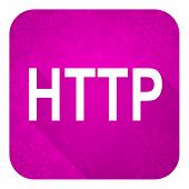 http violet flat icon, christmas button