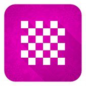 chess violet flat icon, christmas button