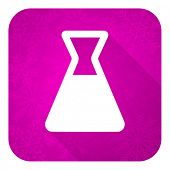 laboratory violet flat icon, christmas button