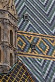 austria, vienna, st. stephen's cathedral. one of the landmarks of the city. roof of the church