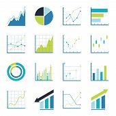stock photo of profit  - Set statistics icon - JPG