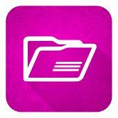 folder violet flat icon, christmas button