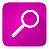 search violet flat icon, christmas button