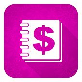 money violet flat icon, christmas button