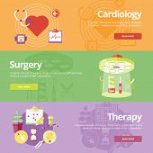 stock photo of cardiology  - Set of flat design concepts for cardiology - JPG