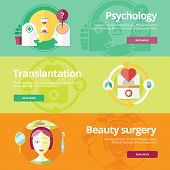 foto of heart surgery  - Set of flat design concepts for sexology - JPG