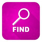 find violet flat icon, christmas button