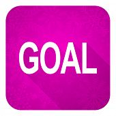 goal violet flat icon, christmas button