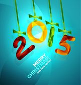 2015 Happy New Year Concept, Christmas holiday icon