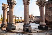 Columns In Zvartnots Cathedral