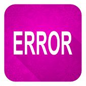 error violet flat icon, christmas button