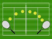 Tennis Illustration Grass