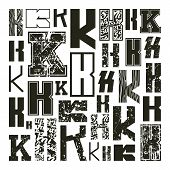 Set Versions Of Letters K