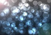 Blue Bokeh With Flare Background
